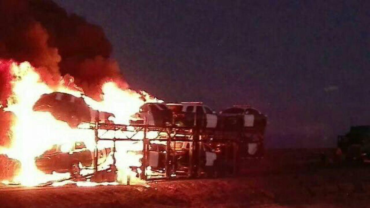 Siguen los ataques a camioneros en Arauco